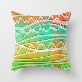 Rainbow Window Throw Pillow