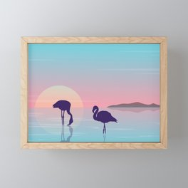 Flamingo Silhouette Beauty Art Framed Mini Art Print