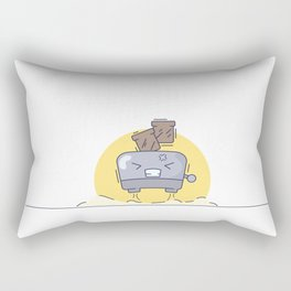 Morning flying toaster Rectangular Pillow