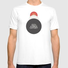 2001 A Space Odyssey - Stanley Kubrick movie Poster, Red Version SMALL Mens Fitted Tee White