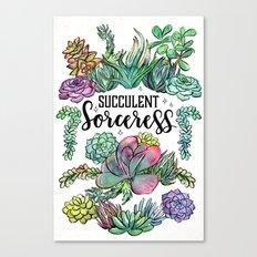 Succulent Sorceress Canvas Print