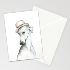 Bowler hat greyhound_ Illustrious dogs. Stationery Cards