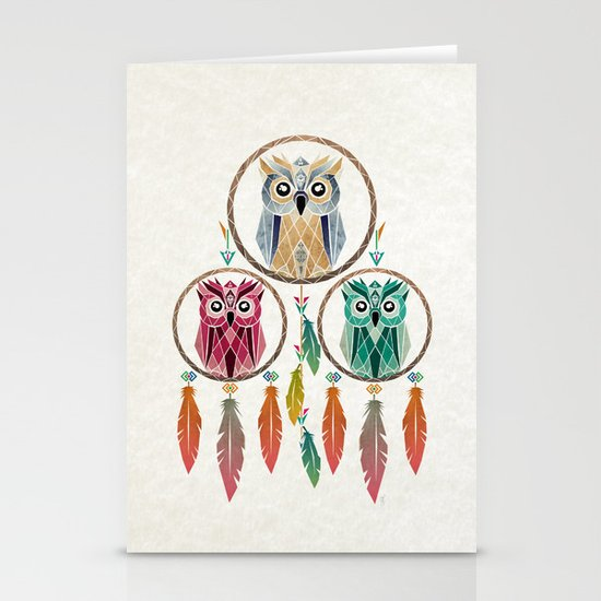 dream owl Stationery Cards