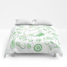 Mango Chicken Comforters