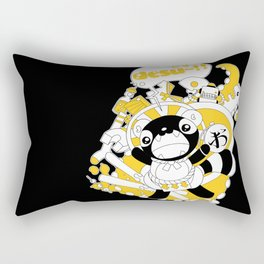 Desu~!!: Yellow Rectangular Pillow