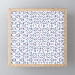 Delicate Flowers Pattern Framed Mini Art Print