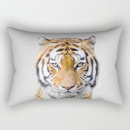 Tiger - Colorful Rectangular Pillow