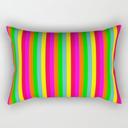 Mini Neon Hawaiian Rainbow Cabana Stripes Rectangular Pillow