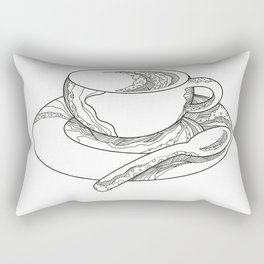 Cup of Coffee Doodle Rectangular Pillow