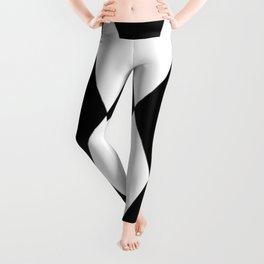 LARGE BLACK AND WHITE HARLEQUIN DIAMOND PATTERN Leggings