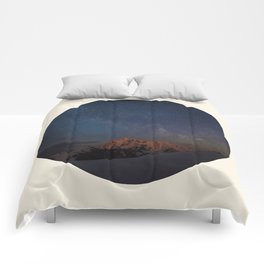 The Milky Way Galaxy & Snow Mountains Comforters