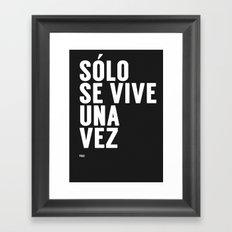 YOLO in Spanish Framed Art Print