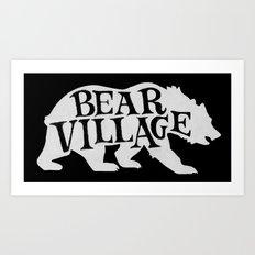 Bear Village - Polar Art Print