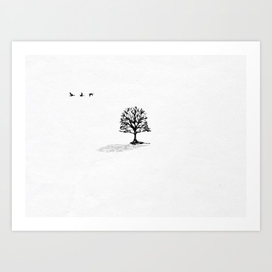 When it snows in March Art Print
