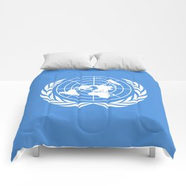 The United Nations Flag - Authentic version Comforters