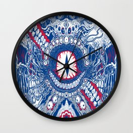 Monster Label Wall Clock