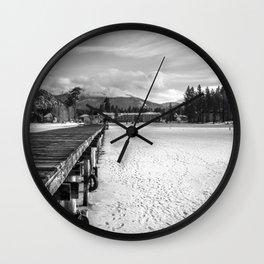 White Tahoe Wall Clock