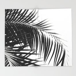 Palm Leaves Black & White Vibes #3 #tropical #decor #art #society6 Throw Blanket