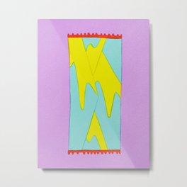 Mountain Rug on Lavender Metal Print
