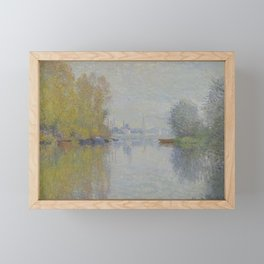 Autumn on the Seine, Argenteuil Framed Mini Art Print