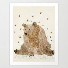 bear grizzly  Art Print