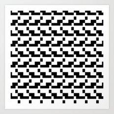 Blankaart Black & White Pattern Art Print