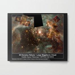 Hubble Space Telescope - A Grand View of the Birth of 'Hefty' Stars - 30 Doradus Nebula (1999) Metal Print