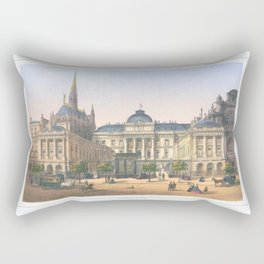 Paris art print Paris Decor office decoration vintage decor PALAIS DE JUSTICE of Paris Rectangular Pillow