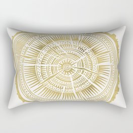Paper Birch – Gold Tree Rings Rectangular Pillow