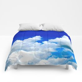 Clouds in a Clear Blue Sky Comforters
