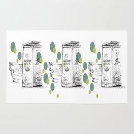 Triple Green Tea Illustration Rug