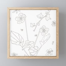 Flora of Friendship - Color or Paint Your Own! Framed Mini Art Print