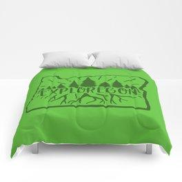 Exploregon (greens) Comforters