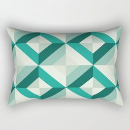 Emerald (Geometric pattern series) Rectangular Pillow