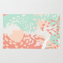 Pippa - minimal trendy gender neutral bright happy color palette nursery art Rug