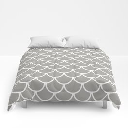 Grey Fish Scales Pattern Comforters