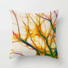 Fractal Forest Throw Pillow
