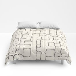 Stone Wall Drawing #3 Comforters