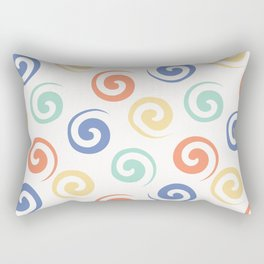 Spiral confetti polka dot pattern Rectangular Pillow
