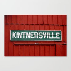 Kintnersville barn Canvas Print