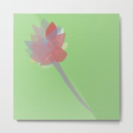Fragile Flower Metal Print
