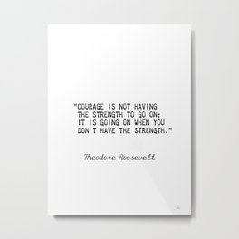 Teddy Roosevelt quote 5 Metal Print