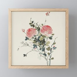 Roses in love. Framed Mini Art Print
