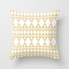 Golden Lace Throw Pillow