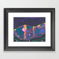 L.A., at night, from a distance Framed Art Print