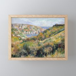 "Pierre-Auguste Renoir ""Hills around the Bay of Moulin Huet"" Framed Mini Art Print"