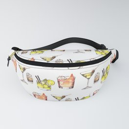 Watercolor Party Drinks- Adult Beverages Fanny Pack