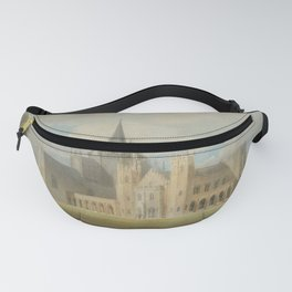 """J.M.W. Turner """"Fonthill Abbey in Wiltshire, England from the south west"""" Fanny Pack"""