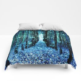 Magical Forest Teal Turquoise Comforters