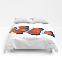Geometric Abstract Clown Fish  Comforters